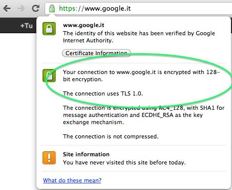 Come Controllare Il Certificato SSL E Il Valore Di Criptazione Su Google Chrome