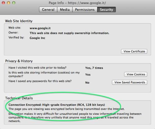 Come Controllare Il Certificato SSL E Il Valore Di Criptazione Su Mozilla Firefox