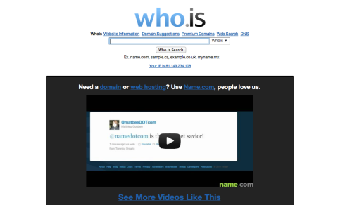 Registro WHOIS Su Who.Is