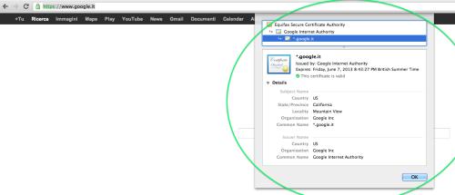 Certificazione SSL di Google.it, Scendiamo Nei Particolari...