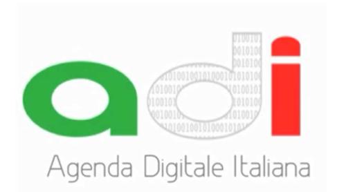 Il logo ufficiale dell'Agenda Digitale Italiana